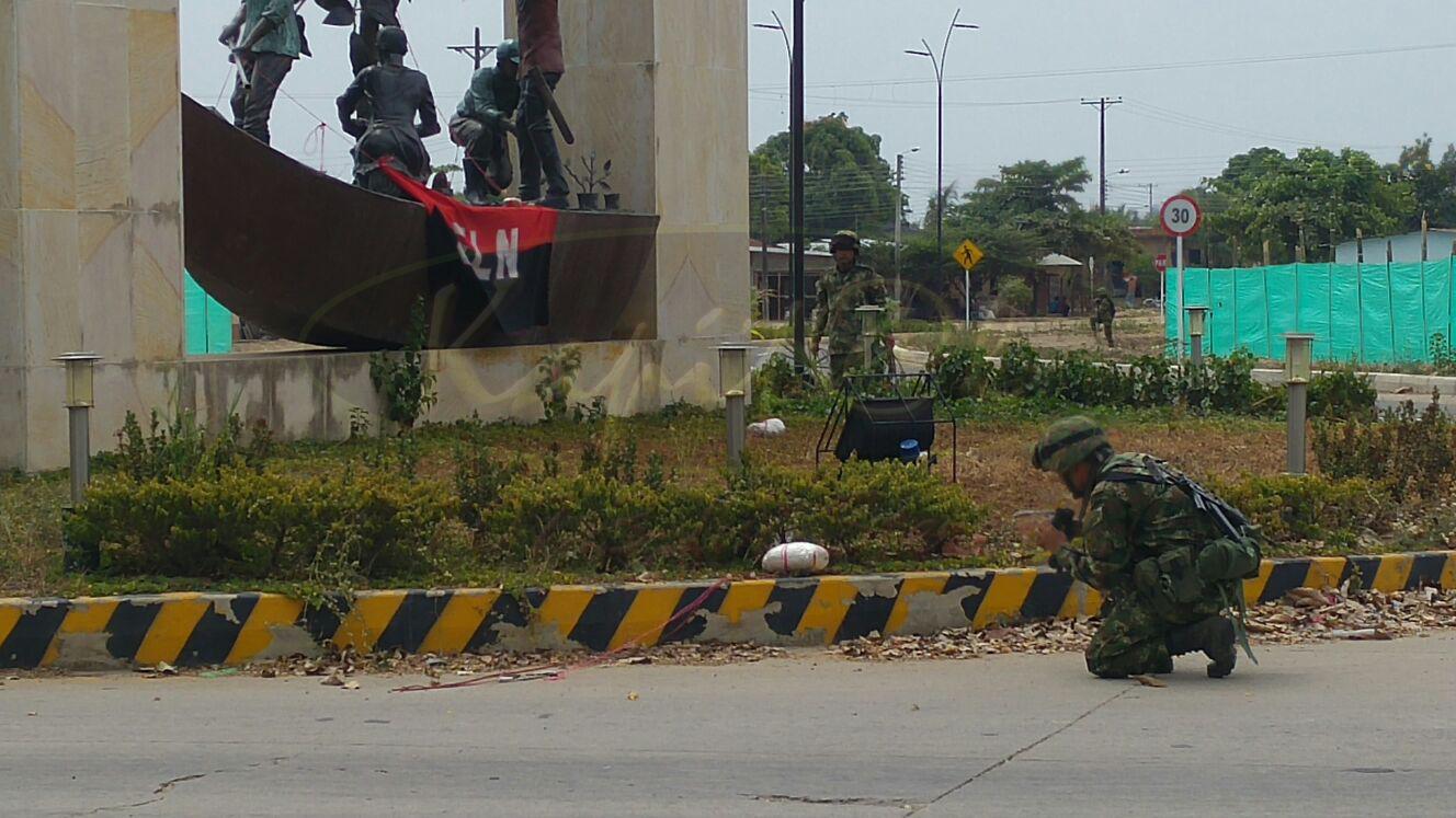 Armada Nacional desactiva artefacto explosivo de manera controlada en el municipio de Arauquita