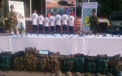 Se desmovilizaron siete guerrilleros del ELN en Arauca y Norte de Santander