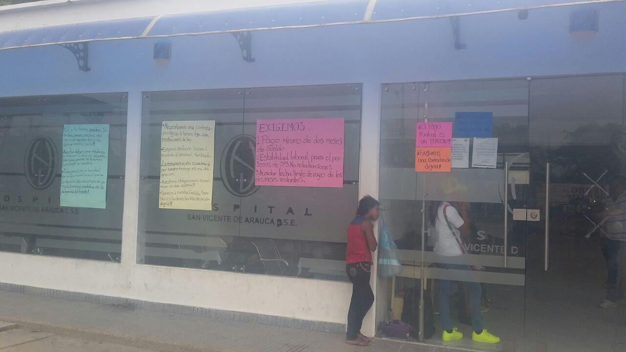 En cese de actividades médicos del hospital San Vicente