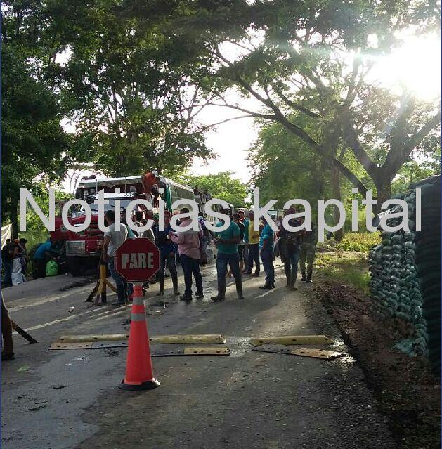 Ya van seis puntos de concentración de integrantes de paro nacional en Arauca