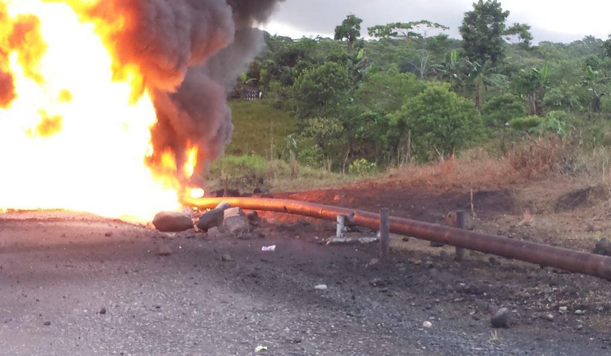 Fueron dos los atentados a los oleoductos Bicentenario y Caño Limón-Coveñas
