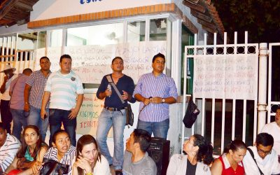 Por fin directivas nacionales de la ESAP escucharon protesta de estudiantes en Arauca. Coordinadora vendrá en diciembre.