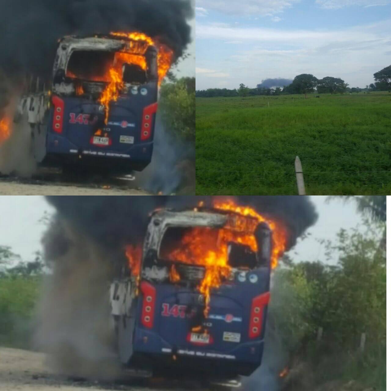 Dos buses de COPETRAN fueron quemados en un mismo día