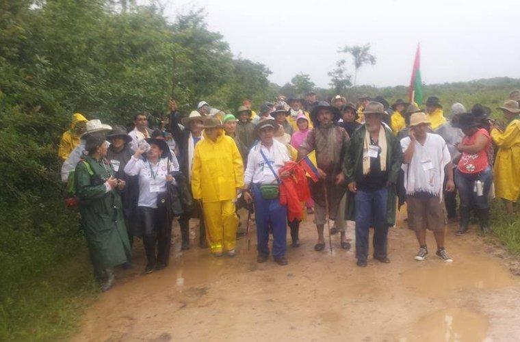 Con caminata se busca llamar la atención sobre mal estado de la vía Cravo Norte-Arauca
