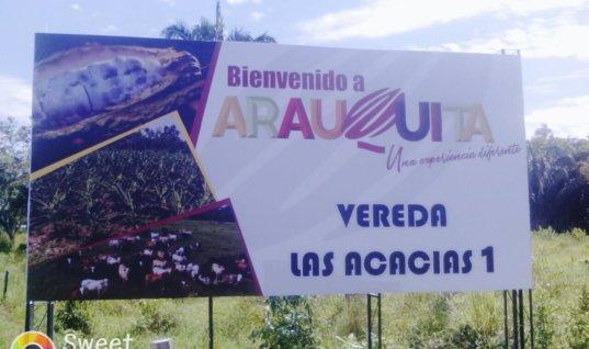 Pancarta de la Alcaldía de Arauquita causa molestia a comunidad de la vereda Acacias 1