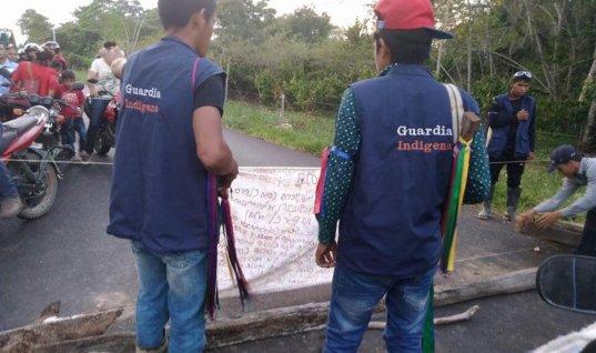 Dos vías de Arauca se encuentran bloqueadas