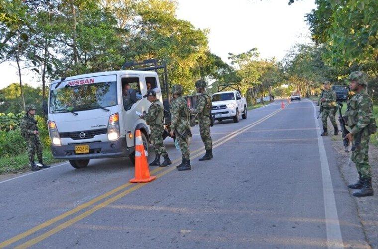 Ejército incautó 260 kilos de carne y 200 de queso.