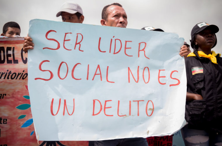 Líderes sociales preocupados por su seguridad. Aunque no se han  registrado asesinatos, pidieron protección para ejercer labor.