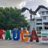 Desadaptados destruyeron letreros de la marca Arauca instalados en la Alcaldía. Buscan con cámaras de seguridad a responsables.