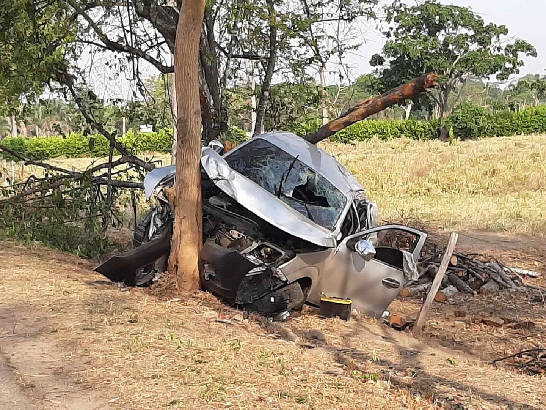 Aparatoso accidente en la vía Tame-Arauca. Dos mujeres sufrieron graves heridas en varias partes del cuerpo y están bajo pronóstico reservado