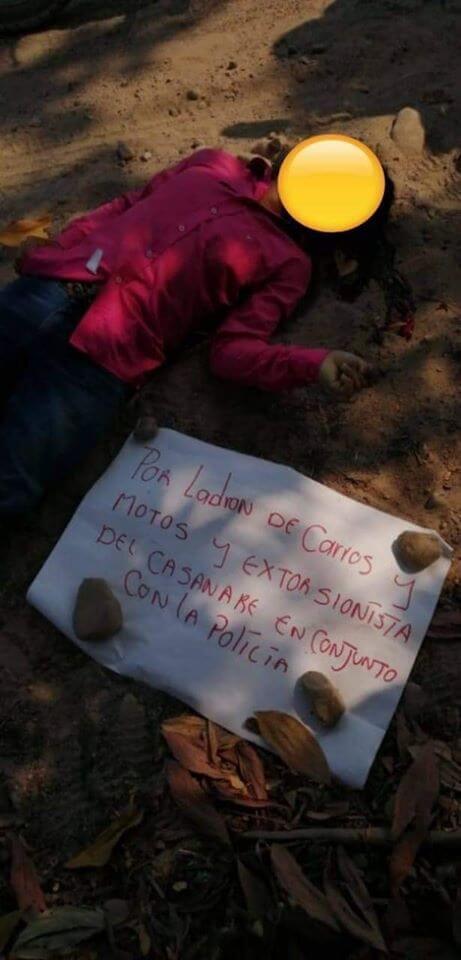 Se altera el orden público en zona rural de Tame. Hallan cadáver de joven en Caño Seco.