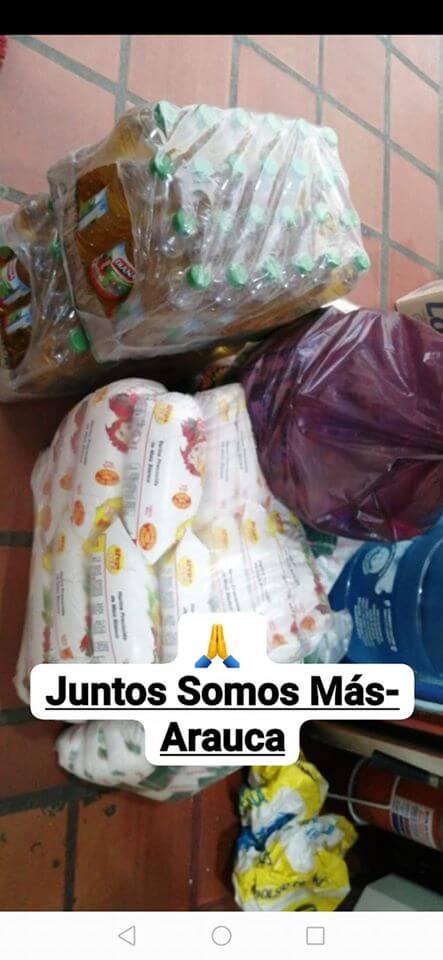 """Jóvenes de Arauca lanzan la campaña """"Juntos somos más"""" para entregar mercados a las familias vulnerables tras inicio de la cuarentena."""