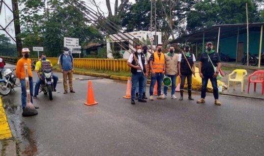 Guardía campesina interetnica hace respetar medidas de aislamiento en municipio fronterizo de Cubará. Ejercer control del Covid-19 en puntos de acceso a la localidad.