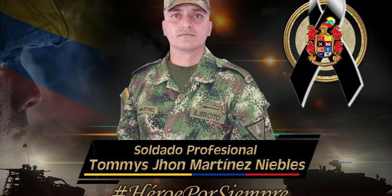 Disidencias asesinan a un soldado profesional en Fortul