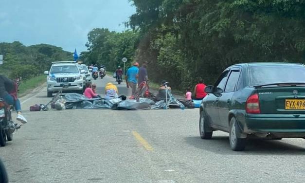 Venezolanos bloquearon la vía Tame-Arauca