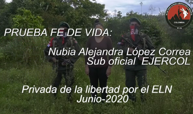 Eln entregó primera prueba de supervivencia de la Suboficial secuestrada la semana pasada en Saravena