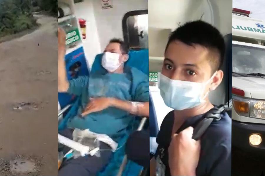 Trasladar un paciente por la trocha de la Soberanía, una tortura que puede demorar hasta 25 horas