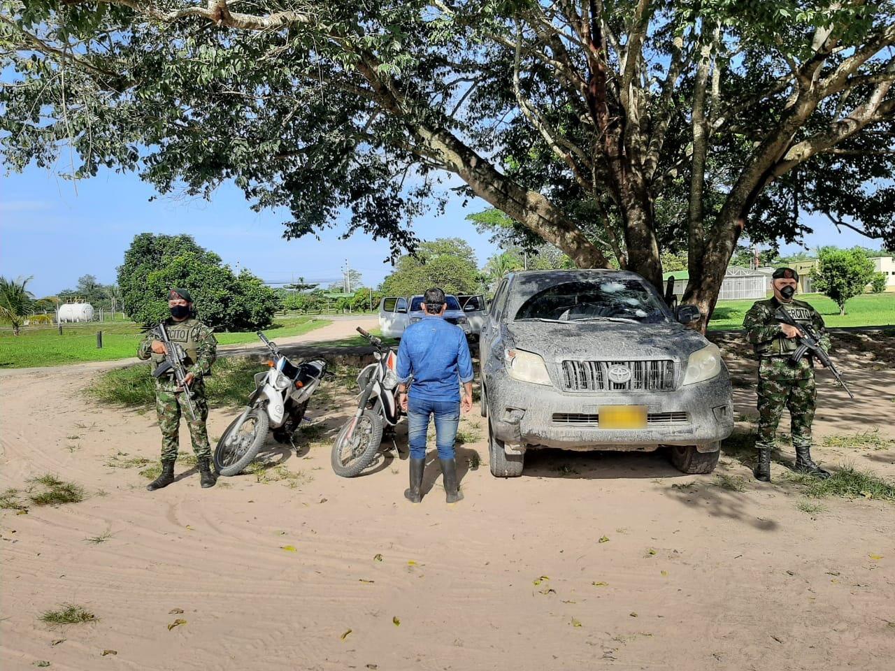 Fue capturado un presunto guerrillero señalado de participar el hurto del vehículo adscrito a la UNP del alcalde de Puerto Rondón