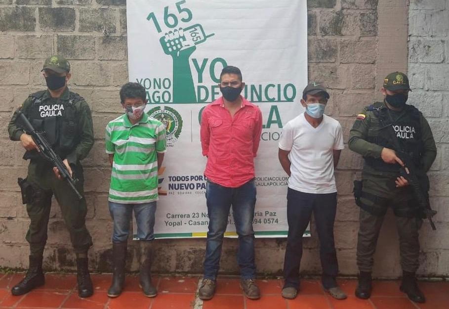 Capturan cuatro personas que serían integrantes de disidencias de las Farc, uno de ellos en Tame