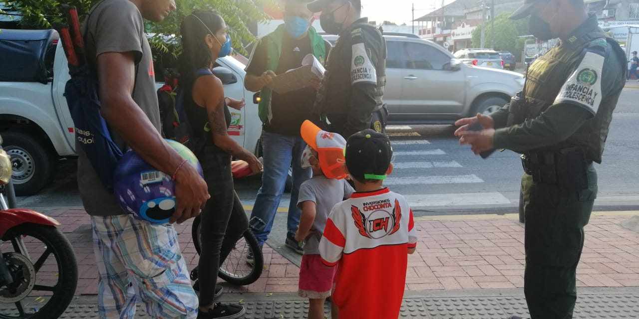 POLICÍA NACIONAL, MIGRACIÓN COLOMBIA Y EL ICBF INICIAN CAMPAÑA DE SENSIBILIZACIÓN