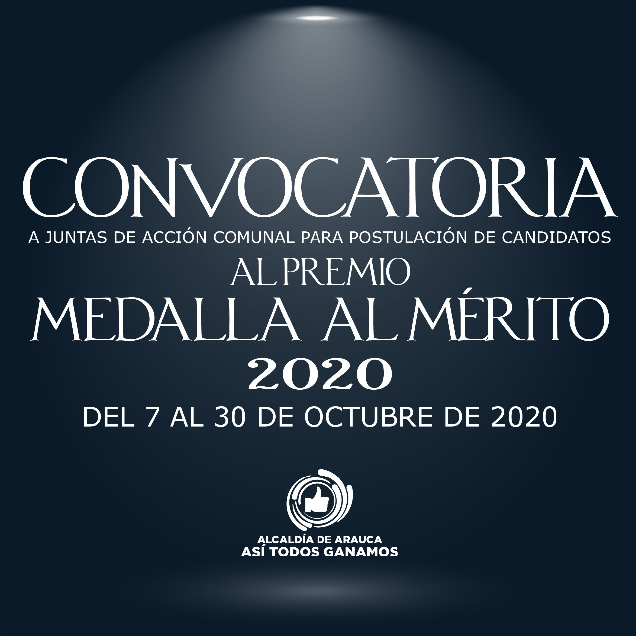 Alcaldía de Arauca abrió convocatoria para postulación de candidatos al premio 'Medalla al Mérito Comunal'
