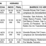 CONOZCA LAS DESCONEXIONES PROGRAMADAS HOY Y MAÑANA EN ZONA RURAL DE TAME