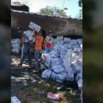 Tracto camión con una carga de dulces hacia Arauca se accidentó en Puente Lipa
