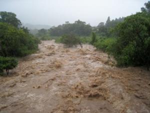 La alerta está encendida pues hay posibilidad de que el afluente pueda afectar directamente estas familias.