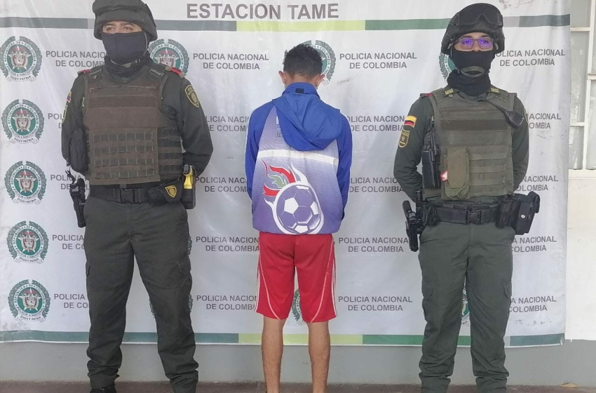 Hombre venezolano es capturado en Tame con gran cantidad de marihuana